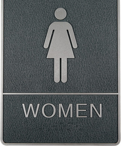 Icon Sign with Text - Women